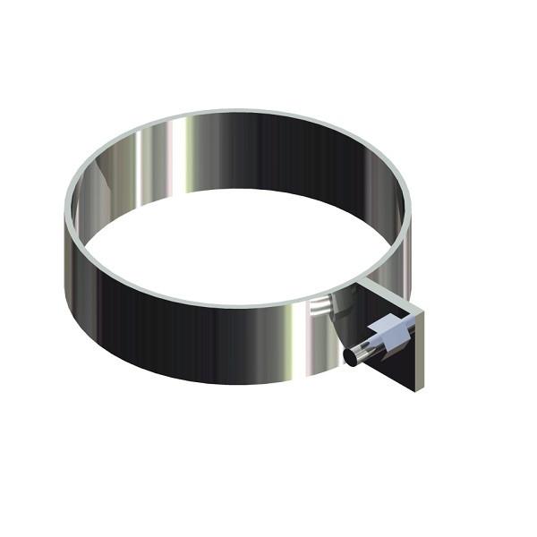Скоба для димоходу нержавіюча сталь D-100 мм товщина 0,6 мм