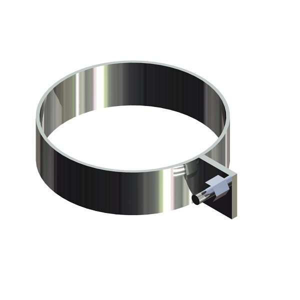 Скоба для димоходу нержавіюча сталь D-130 мм товщина 0,6 мм