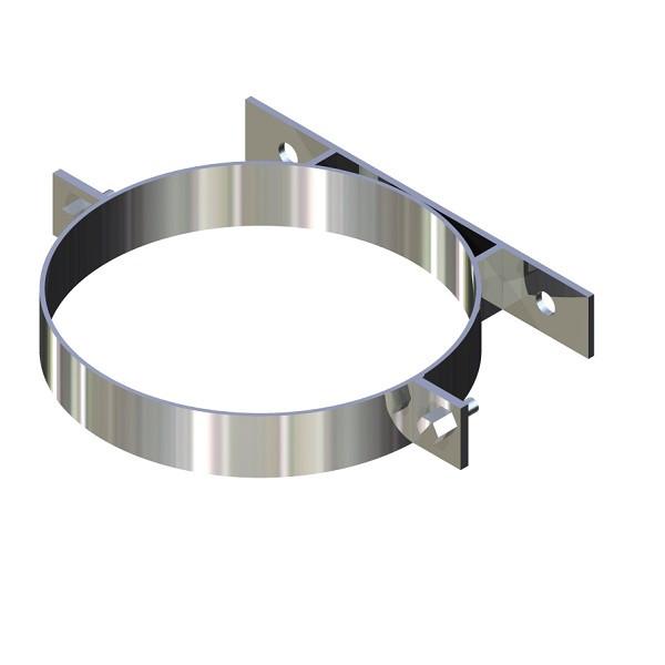Хомут для димоходу нержавіюча сталь D-250 мм товщина 0,6 мм