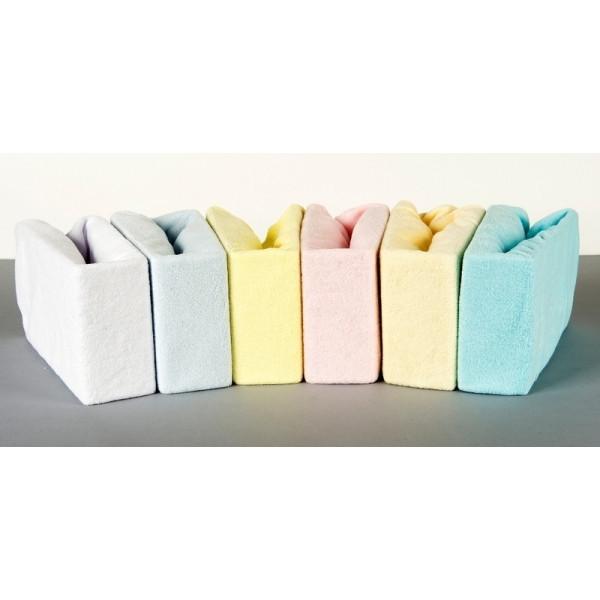 Простирадло дитяча махрова на резинці в коляску Duetbaby 50 х 70 см (кольори в асортименті)