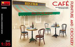 Мебель и посуда для кафе в масштабе 1/35.  MINIART 35569