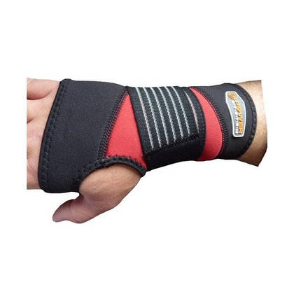 Кистевый бинт Power System Neo Wrist Support PS-6010 Black/Red, фото 2