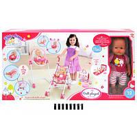 Игровой набор Tutu Love для девочек 11 в 1: пупс с аксессуарами, стульчик для кормления, коляска