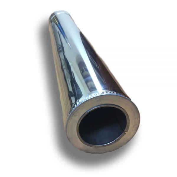 Труба для дымохода двустенная из нержавейки 1 м ø 130/200 н/н 1 мм