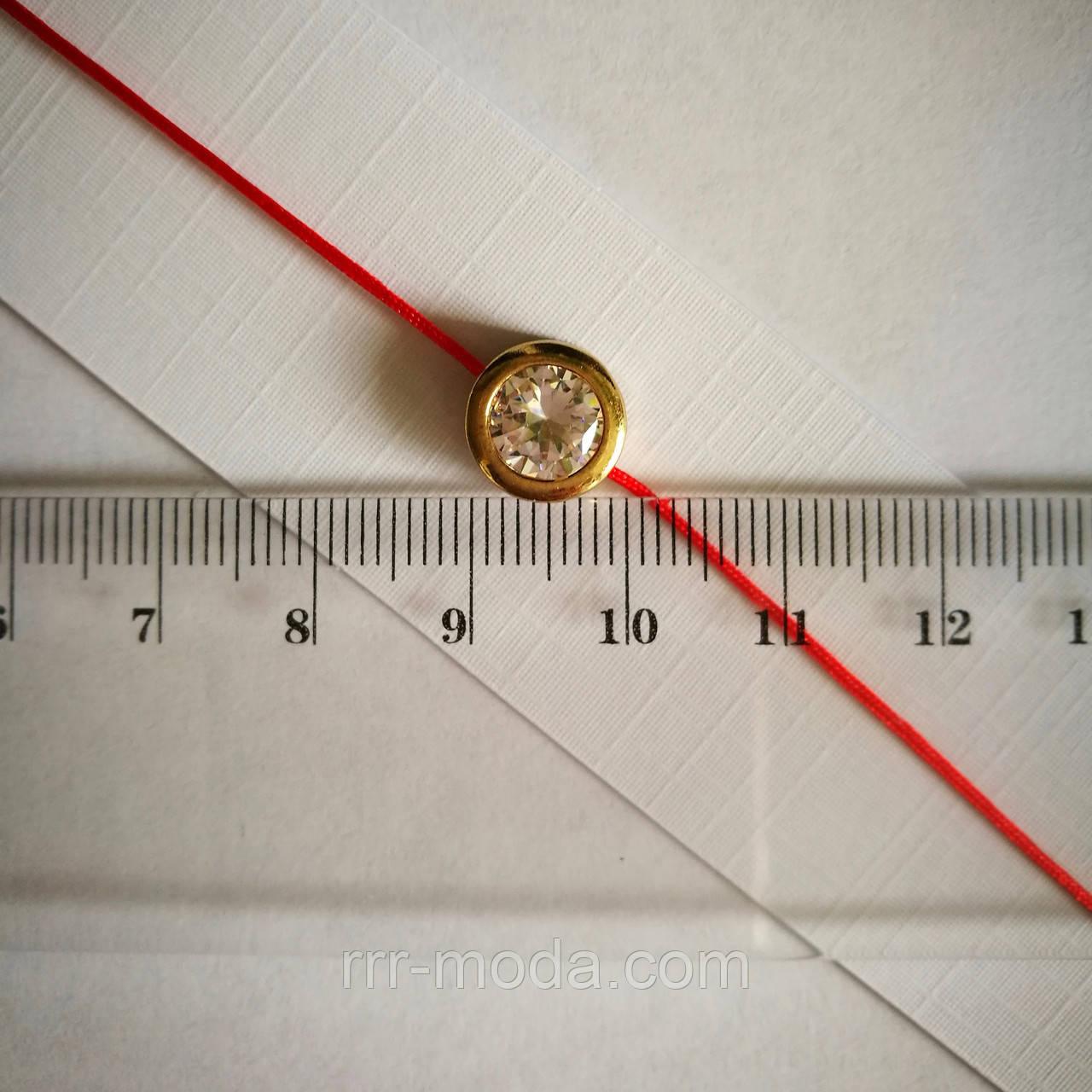 Браслет красная нить, обереги с цирконами 1 см оптом 1175