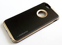 Чехол противоударный Motomo для iPhone 6 / 6s черный с золотым, фото 1