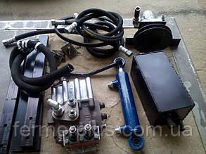 Комплект гидравлики для мототракторов, переоборудованных мотоблоков (2 гидровыхода, плавающего типа)