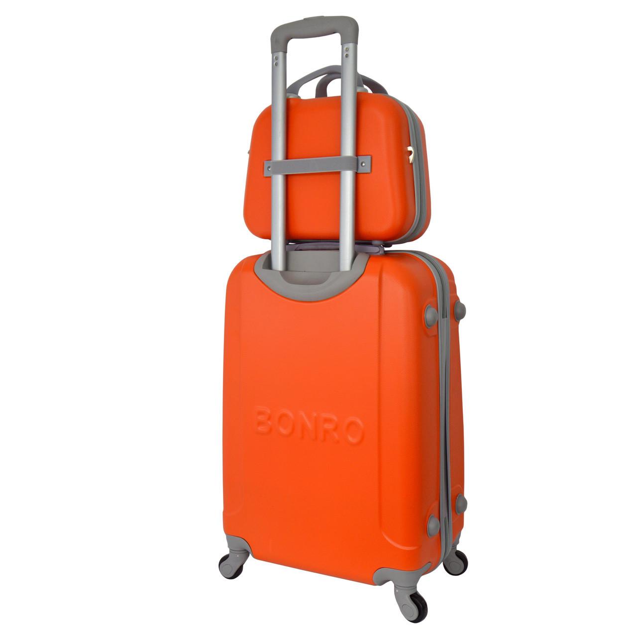 Комплект чемодан + кейс Bonro Smile (небольшой) оранжевый, цена 1 ... b141f1d0dd9
