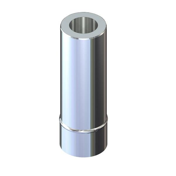 Труба дымоходная 0,5 м ø 100/160 н/оц 0,6 мм