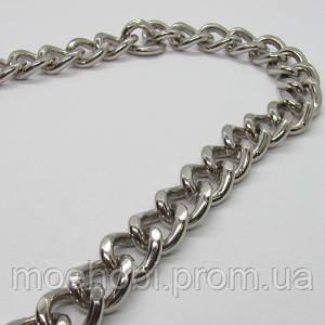 Цепь крепкая стальная для сумок (2.5мм) никель, 5348