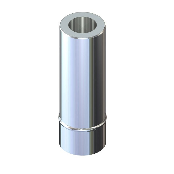 Труба димохідна 0,5 м ø 160/220 н/оц 1 мм