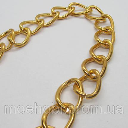 Цепь крепкая стальная для сумок (2.2мм) золото, 8436, фото 2
