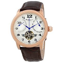 Наручные часы Heritor Piccard Automatic Silver Dial Brown Leather Mens Watch HR2005 (HR2005)