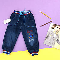 Утепленные джинсы на резинке на мальчика. 80,92