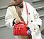 Женская сумка красная с пушком, фото 3