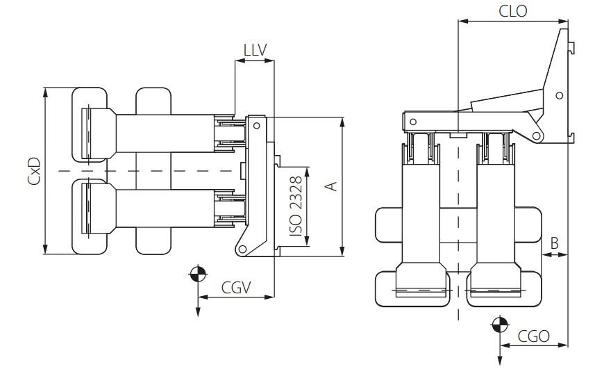 Захоплення CAM PS-B для паперових рулонів без повороту
