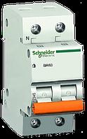 Автоматический выключатель BA63 1P+N 20А Schneider Electric