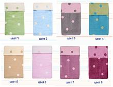 Одеяло - плед детское двухстороннее в горошек Womar  100 х 150 см 60*40