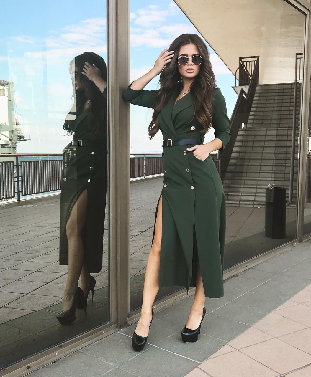 Платье зеленое, арт.1021