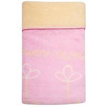 Одеяло - плед детское в цветы  двухстороннее  Womar 75 x 100 cм 60*40
