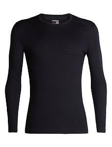 Термофутболка мужская Icebreaker 200 Oasis Long Sleeve Crewe Black XXL (104 365 001 XXL)