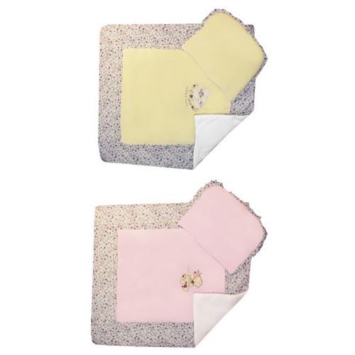 Детский комплект (одеяло + подушка) № 2 в коляску WOMAR велюр (70 х  80 см)