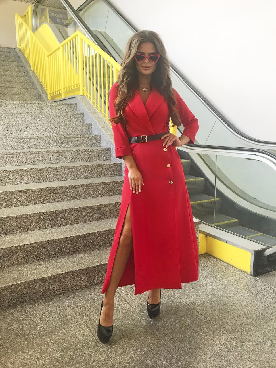 Платье красное, арт.1021