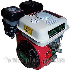 Двигатель бензиновый FAVORITE 200-1M  (6,5 л.с., ручной стартер, шпонка Ø19мм, L=58мм)