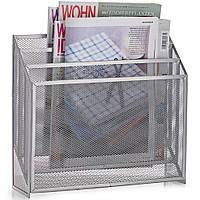 Газетница с функциональными отделениями для сегрегации журналов серая ZELLER 32 x 9 x 29,5 см ( 28901 )