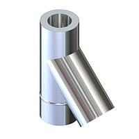 Тройник 45° для дымохода ø 130/200 н/оц 0,6 мм