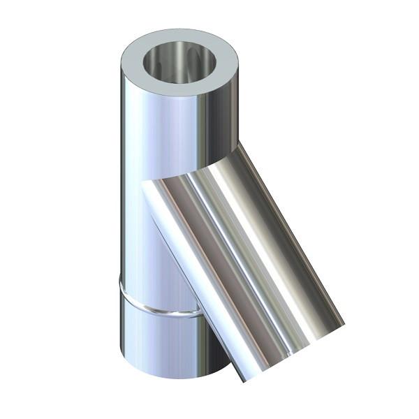 Трійник 45° для димоходу ø 160/220 н/оц 0,6 мм