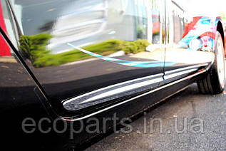 Хром молдинги дверей для Nissan Leaf (10-17)