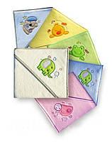 Уголок - полотенце с капюшоном махровый с вышивкой (80 х 80 см) Duetbaby, фото 1