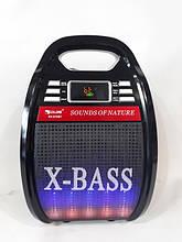 Колонка Golon RX-810 BT Bluetooth, радиомикрофон, пульт, цветомузыка, солнечная батарея