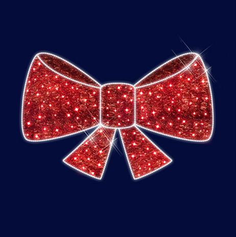 """3D светодиодная конструкция объемная """"Красный бант"""" 1,1*0,7*0,2, фото 2"""