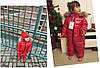Супер-тёплый детский комбинезон с мехом, Красный, фото 3
