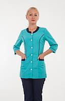 Медицинский женский костюм от производителя зеленый+темно-синий  размер 40-66