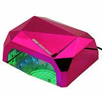Лампагибрид кристалл CCFL+ LED UV — 36W  — малиновая