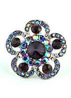 КО1680-4 кольца. Безразмерное с фиолетовыми камнями