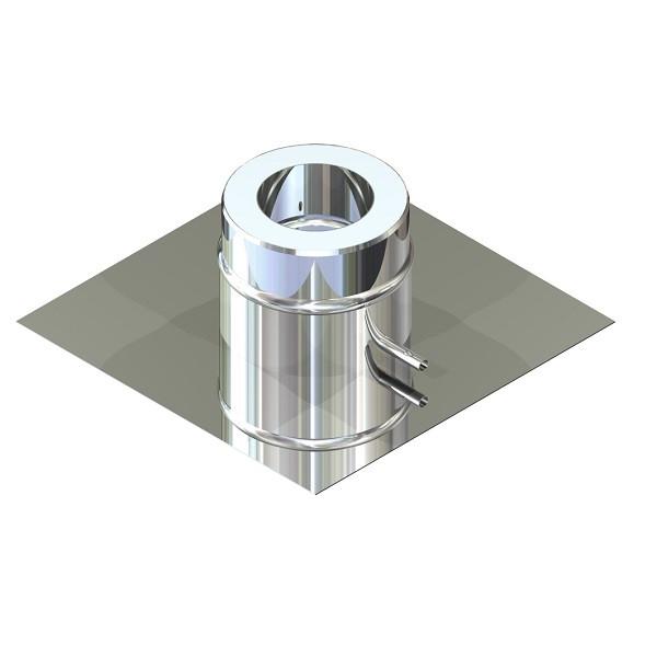 Подставка напольная для дымохода ø 130/200 н/н 0,6 мм