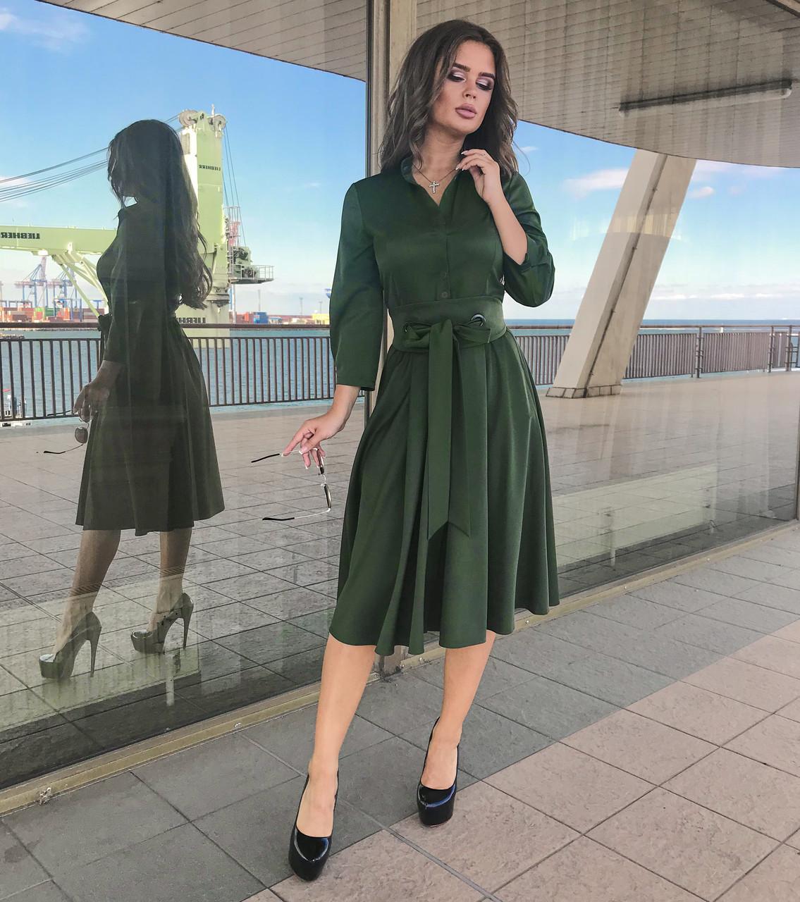 Платье хаки (зеленое), арт.1022
