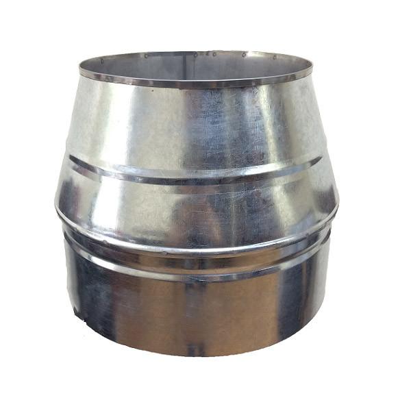 Конус дымоходный ø 130/200 нерж/оцинк 1 мм