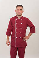 Мужской костюм повара из батиста на пуговицах размер 42-56