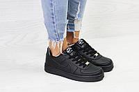 Кроссовки NIKE женские,  Nike Air Force  черные  женские кроссовки. ТОП качество!!!  Реплика, фото 1