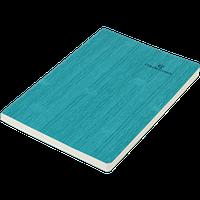 Блокнот деловой COLOR TUNES А5, 96л., чистый, обложка искуственная кожа, бирюзовый