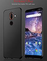 Силиконовый TPU чехол JOY для Nokia 7 Plus черный