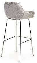 Стілець барний B-12 срібний, фото 3
