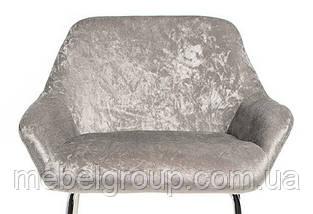 Стілець барний B-12 срібний, фото 2