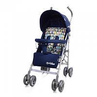 *Коляска - трость прогулочная Детская Дитяча Коляска TM BabyCare Rider Blue в льне арт. 0002