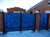 Установка Ворот и Забора из металлопрофиля - профнастила | Цена монтажа и изготовление забора Кривой Рог